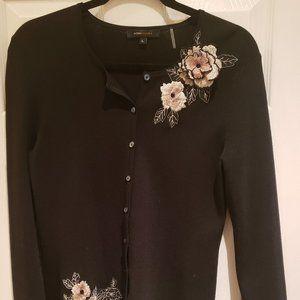 BCBGMaxazria Floral Button Down Cardigan